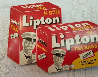 Vintage Lipton Tea Advertising Sewing Needle Package Book Made and Printed in West Germany Free Shipping