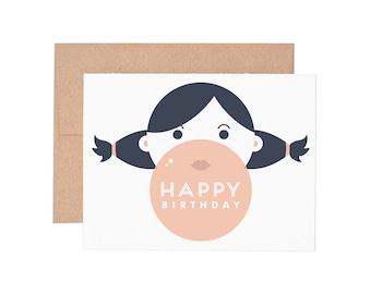 Boxed Cards - Bubble Gum Birthday Letterpress Greeting Cards - Boxed Set | Birthday Cards | Happy Birthday