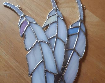 Stained glass angel baby feather suncatchers Spiritual Memorial loss Remembrance sun catcher window hanging