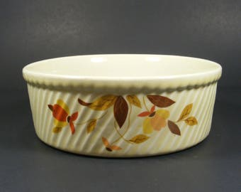 Casserole Dish by Hall in Autumn Leaf Pattern for Jewel Tea Company bottom marked HALL 505 French Baker