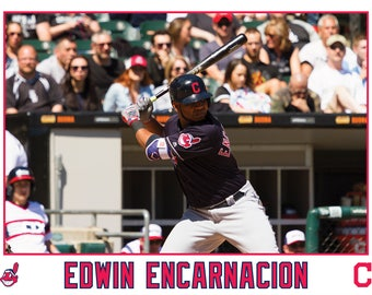 Edwin Encarnacion Cleveland Indians Canvas Wrap