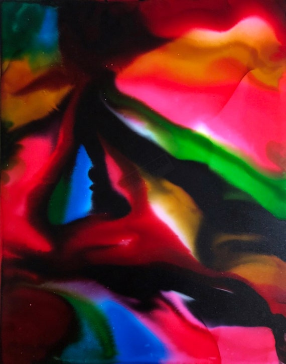 """Original Alcohol Ink Abstract Painting: """"Bewitched"""""""