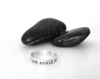 Spinner Ring Text Band