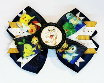 Meowth Pokemon Game Anime Cosplay Hair Bow Headband Pokeball Cartoon Cat