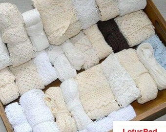 20YARD/Lot Lace Accessories Cotton Edge Mix 2.5-7CM Theory Sweater Side Skirt Full Cotton Curtain Sofa Diy Cotton Lace TRIM