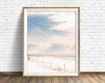 "large wall art prints, large art, large wall art, instant download printable art, digital download, nature prints, simple - ""Winter Fences"""