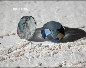 Pearl disc 12 mm blue Violet AB 2 X