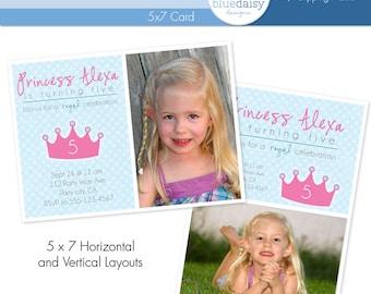 Princess Celebration Birthday Invitation - Custom Photo Card