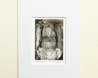 Buddha Wall Art, Meditation Art, Buddha Print, Buddhist Print, Yoga Art, Heart Buddha Art, Heart Wall Art, Asian Art, Asian Decor,Matted 5x7