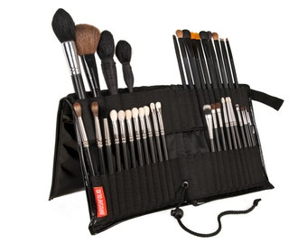 Makeup Brush Stand. BRUSHFOLIO®LITE  keeps your makeup brushes organized with custom made slots.