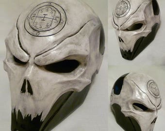 Inspired Abaddon Helmet of Last Man Standing, Halloween Mask, LMS, Horror mask, Handmade, Cosplay, Props, Abaddon, BountyHunter, Villain.