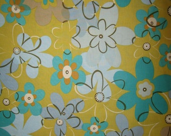 Michael Miller Funky Flowers Olive