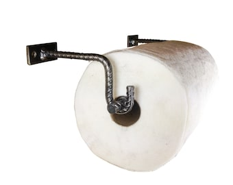Hand Forged Re-bar Paper Towel Holder - Wall Mount