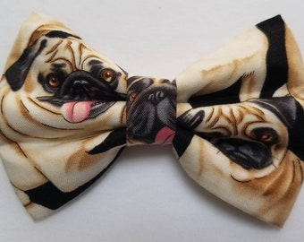 Pug hair bow/ boys bow tie/ dog bow tie
