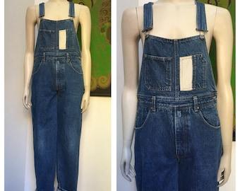 80's Vintage full length DENIM overalls S-M