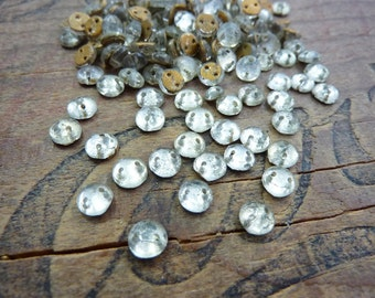 Antique Sew On Bead Small Two Hole Crystal Sew On Beads (30)