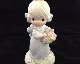 "Vintage Precious Moments ""Take Time to Smell the Flowers"" figurine with box"