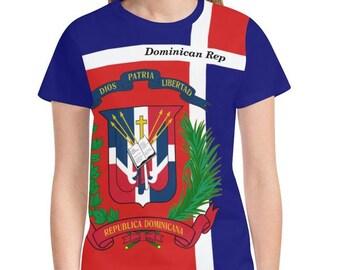 Dominican Republic Ladies Custom Flag Hoodie 2.0, Republica Dominicana, Dominican Flag, Dominicana, Dominican clothing