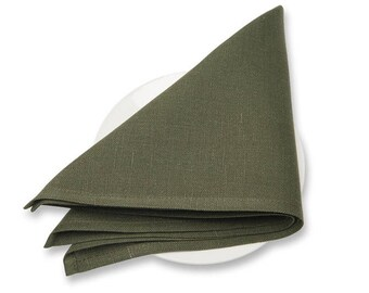 10 Pcs Cloth Napkins | Linen Napkins | Table Linens | Green Napkins | Checked | Natural | Dinner Napkins | Cotton Napkins | Set of Napkins