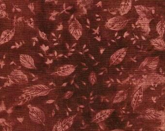 Vente au metre - A PRIX DOUX /  tissu coton patchwork imprimé de feuilles camaieux de bruns