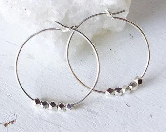 Small Silver Hoops - Skinny Hoops - 925 Silver Small Silver Hoop Earrings Minimalist Hoops Thin Hoops Simple Hoops Silver Circle Earrings