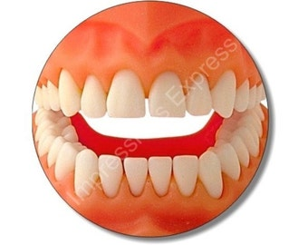 Teeth Round Mousepad