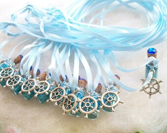 Pirate Ship Party Favors, 10 Sailing Boating Beach Surf Fishing Party Favors Fishing Captain Blue Sea Fish Bait Hook Hawaii Surf Party