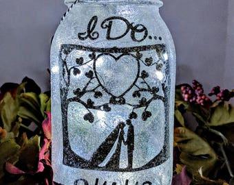 Wedding LED Mason Jar