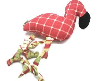 Dog Toy // Small Dog Toy // Flamingo // Extra Durable