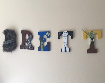Custom drawn and painted Nursery Letters