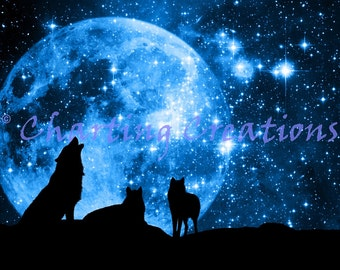Wolf Magic Counted Cross Stitch Pattern