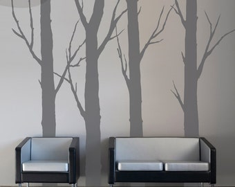 Forest Trees - Set of 4 - Vinyl Wall Decals