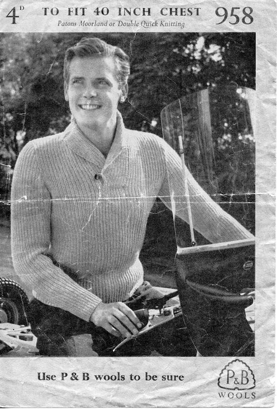 Mens Fishermans Rib Sweater Knitting Pattern Pdf Download
