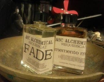 FADE from REQUIESCAT: an ode to passed and passing, unique ghostlike hollow perfume, handmade, white flower and sandalwood, morbid