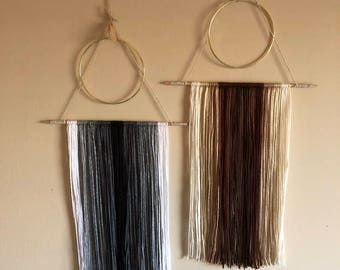 Metal and Wood Wall Hanging