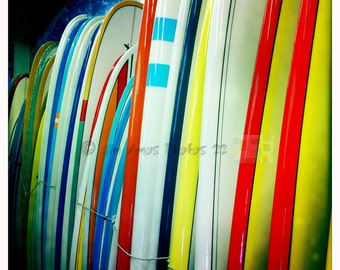 Surf Photography - Colorful Longboards - Square Surfing Photo 5x5 on Kodak Endura