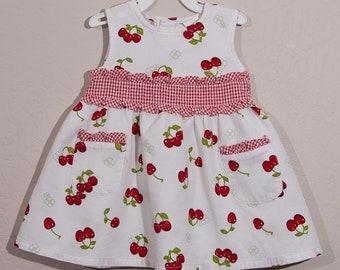 Vintage BT Kids Cherry Dress, 1980's Cherry Sun Dress and Bloomers