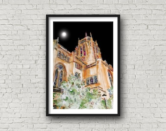 Cathedral - Anglican Cathedral - Liverpool Cathedral - Liverpool - PRINT