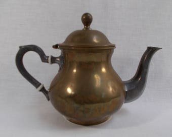 Copper and Pewter Teapot Made in France