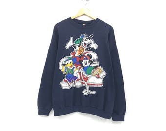 Tokyo Disney resort Vintage disneyland Cartoon character clothing men women hoodie sweatshirt logo style clothing outfit size large Nibmom9