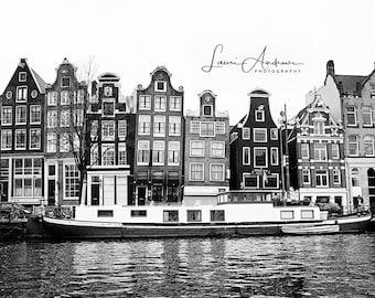 Amsterdam Black and White Fine Art Print Wall Art Home Decor Holland Netherlands World Travel Photography