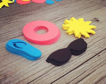 """275+ Pool Party Theme & Circle Die Cuts, 1-1.5+"""" - Birthday, Shower, Pool Party- confetti, scrapbooking, party decor, DIY craft projects"""