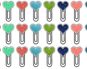Heart clip stickers