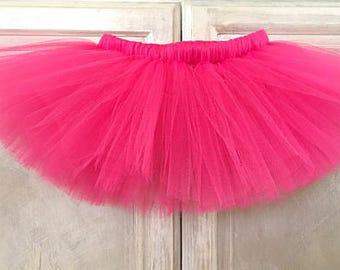 Fuchsia tutu - Pink - Dark pink - Newborn - preemie tutu - baby tutu - kids tutu - Adult tutu -Birthday tutu - Smash cake tutu- Valentines