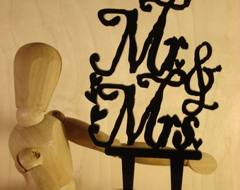 Mr & Mrs Wedding Cake Topper, Table Decoration, Party Centerpiece, Anniversary