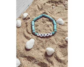 Boho, hippi, beach, gypsy bracelet dream with beads