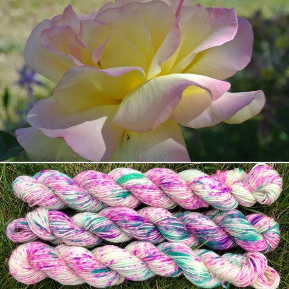 Spring Rose 20g Miniskein, speckled merino nylon sock yarn