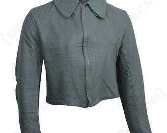 Vintage German navy submarine grey leather jacket coat U-Boat army military short