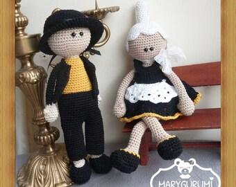 Brittany dolls, plush crochet, Amigurumi