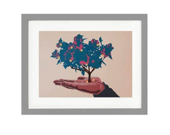 Tree print on 160gsm parchment paper FRAMED